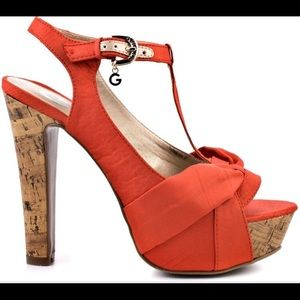 G by Guess Coco Cork Wedge Heel Platforms